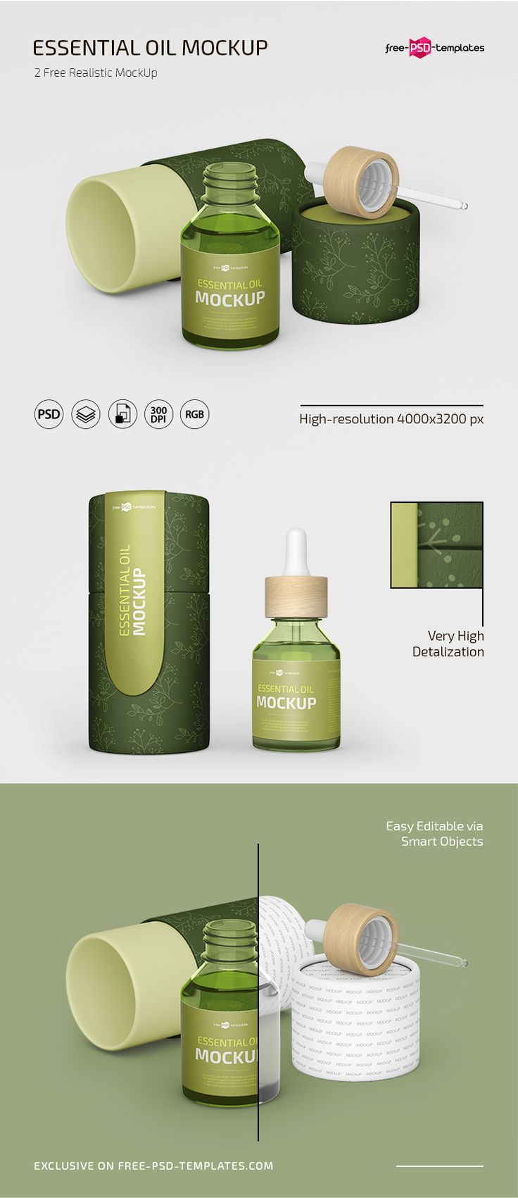Download Free PSD Essential Oil Mockup Template | Free-PSD-Templates