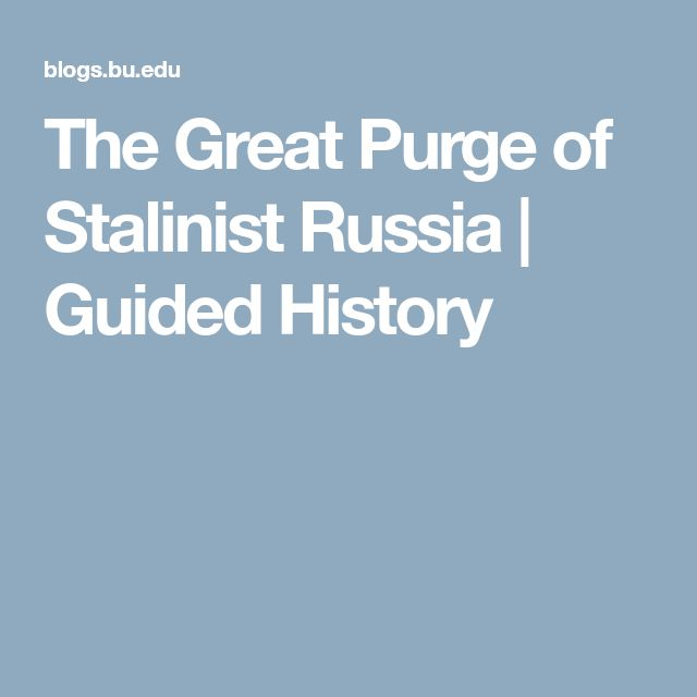 The Great Purge of Stalinist Russia  | Guided History