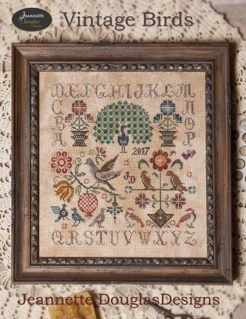 Lovely traditional-style sampler by Jeannette Douglas Designs. Available as a pattern or full kit, to include pattern, fabric + embroidery silks. Straight to page: http://strawberrysampler.com/detail.cfm?ID=20745
