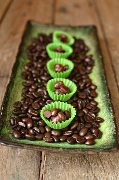 DIY Chocolate Covered Coffee Beans by intimateweddings  #Snacks #Chocolate #CoffeeBeans