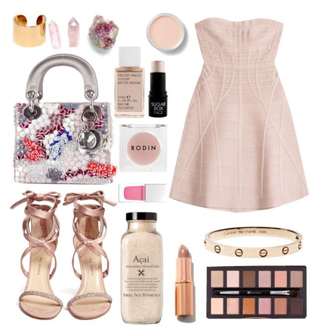 """""""Untitled #330"""" by anniemccurdy ❤ liked on Polyvore featuring Hervé Léger, Paul Andrew, Christian Dior, Charlotte Tilbury, Rodin Olio Lusso, Korres, Maison Margiela, Bare Escentuals and Givenchy"""