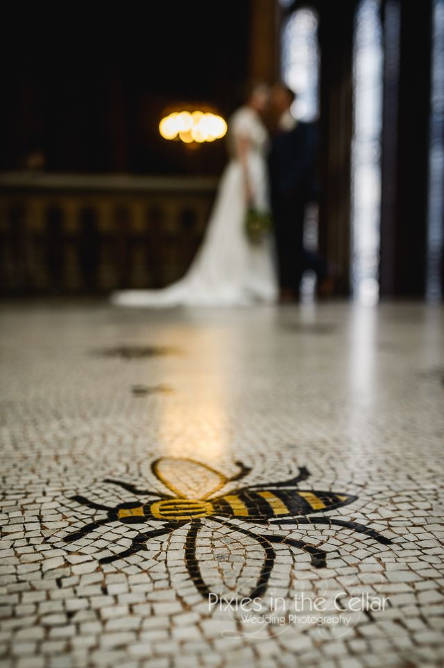 Manchester Town Hall Wedding bee floor mosaic