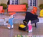 Mercredi 8 avril 2015Pour ses 20 ans, l'ASBL Opéra pour Tous a pris le pari d'adapter la bande dessinée la plus théâtrale, la plus musicale de l'œuvre d'Hergé, Les Bijoux de la Castafiore. Un opéra qui sera présenté en plein air au Château de La Hulpe du 17 au 27 septembre. Thibault van Raemdonck et Dominique Tournay.La Hulpe