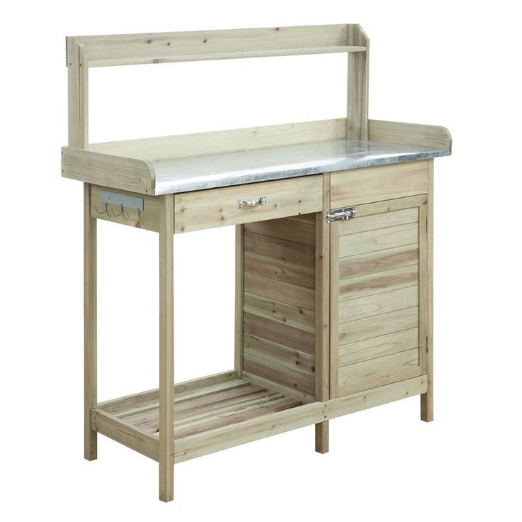 Deluxe Fir Potting Bench | Potting bench, Stainless steel ...