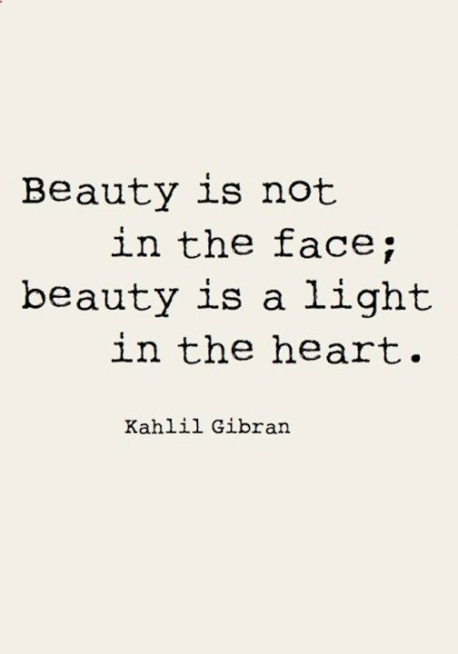 Beauty Is Not In The Face A Light Heart Check