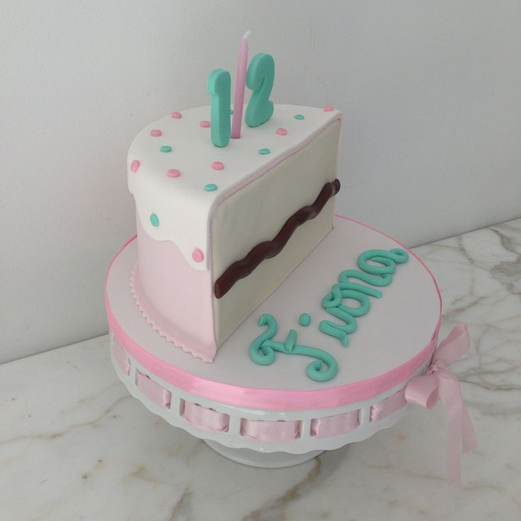 Half Birthday Cake 1 2 6 Months Baby Pink