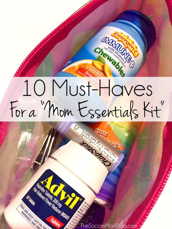 "Switch purses and never worry about forgetting something! DIY your own ""Mom Essentials Kit"" w/these 10 purse essentials! #BeHealthyForEveryPartofLife (ad)"