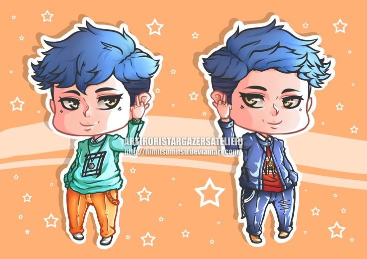 uh yeah, this my new OC, his name is Mihi. inspired from the idol groups and rappers in korea. with hair styles and different costumes. where is your type character? left or right?