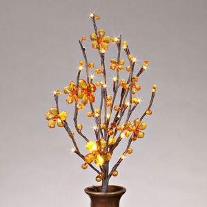 "Gerson 37890 - 20"" Amber Acrylic Petal Flower Battery Operated LED Lighted Branch with Timer (30 Warm White Lights) by Gerson. $21.99. 20"" - Amber Crystal Acrylic Petal Flower - Everlasting Glow - Battery Operated - LED - Brown Wrapped 