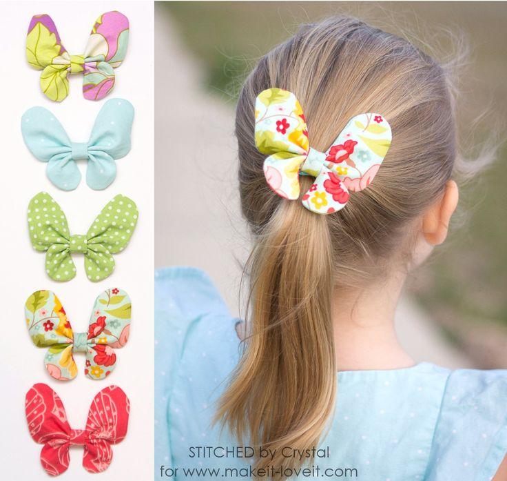 Mariposa del arco del pelo Tutorial |  a través de www.makeit-loveit.com