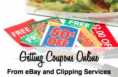 Buying coupons online from Ebay and other online clipping services.