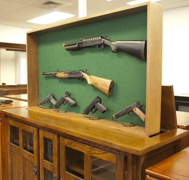 hideaway gun rack