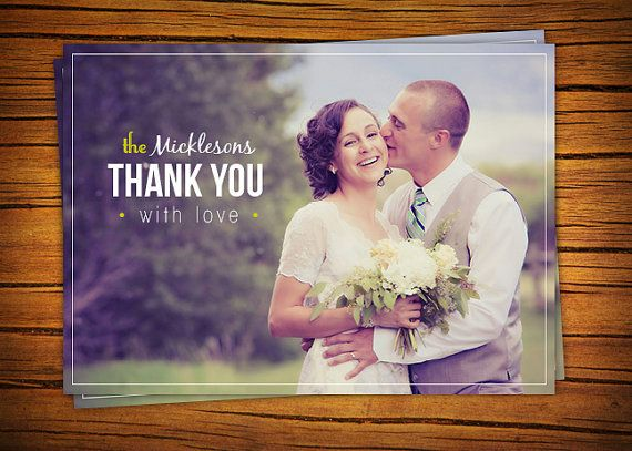 Photo Wedding Thank You Card (Bold & Beautiful) - Printable, 4x5.5, 4x6, or 5x7 on Etsy, $22.92 AUD