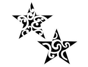 Tribal Twin Star Tattoo