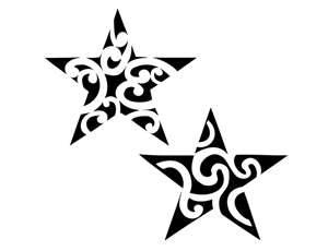 Tribal Twin Star Tattoo