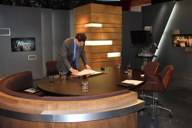 Season 7 is only a few days away. Here's a shot of Steve getting ready to shoot our first promo.