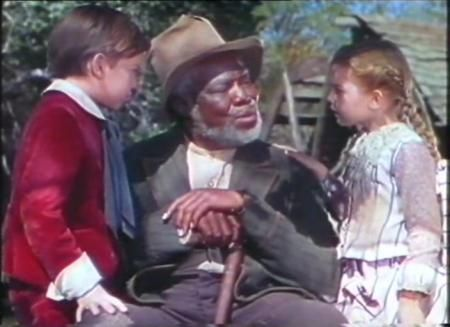 *JOHNNY (Bobby Driscoll), UNCLE REMUS (James Baskett) & GINNY (Luana Patten) ~ Song of the South, 1946