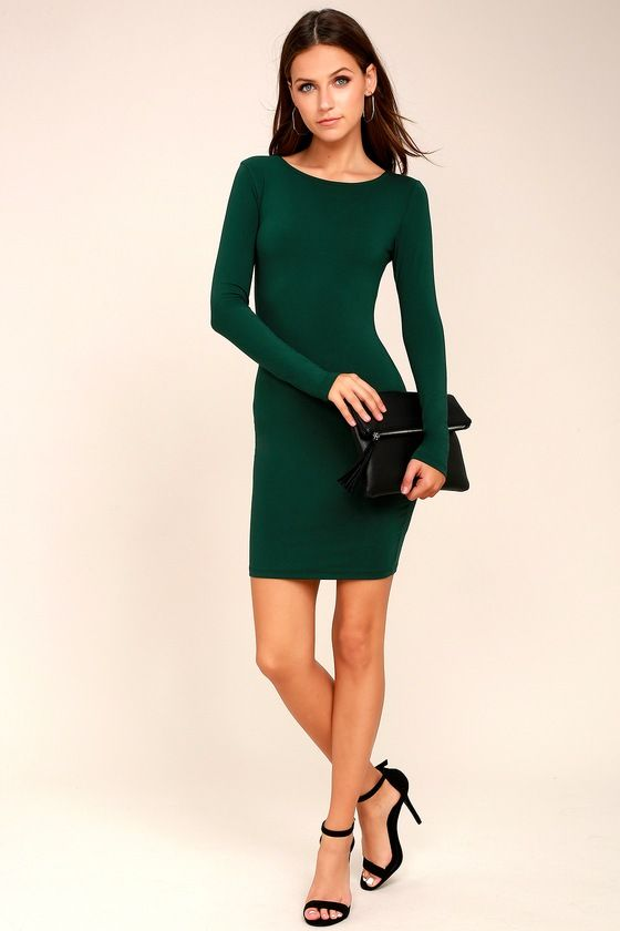Comeback Baby Forest Green Dress 2