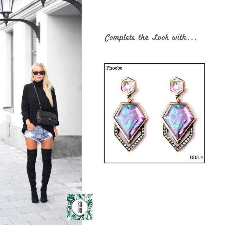 Ref: BI014 Phoebe Medidas: 5.1 cm x 2.5 cm  So Oh: 7.99 🌱#sooh_store #onlinestore #style #inspiration #styleinspiration #brincos #earrings #fashion #shoponline #aw2016 #aw1617 #winterstyle