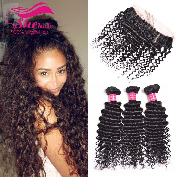 Malaysian Deep Wave With Closure 4 Bundles 13x4 Ear to Ear Lace Frontal Closure With Bundles Malaysian Virgin Hair With Closure -- Want additional info? Click on the image.