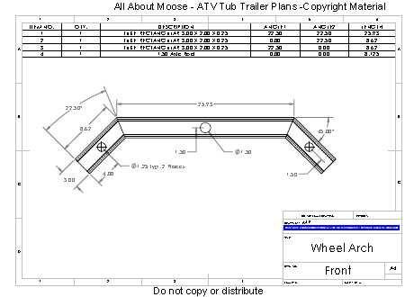 Atv Trailer Plans For A Walking Beam Atv Tub Trailer In