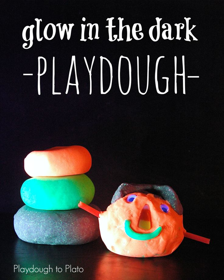 Glow in the Dark Playdough Recipe #glowinthedark #playdough