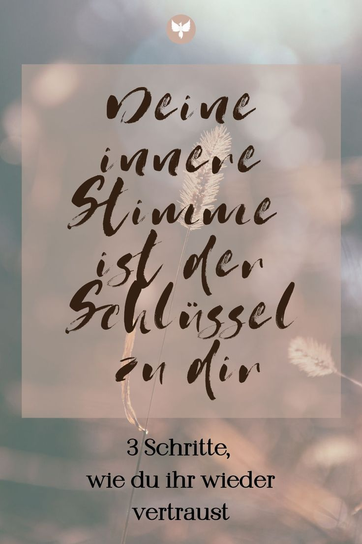 Follow your inner voice | Phönixfrau | Innere stimme