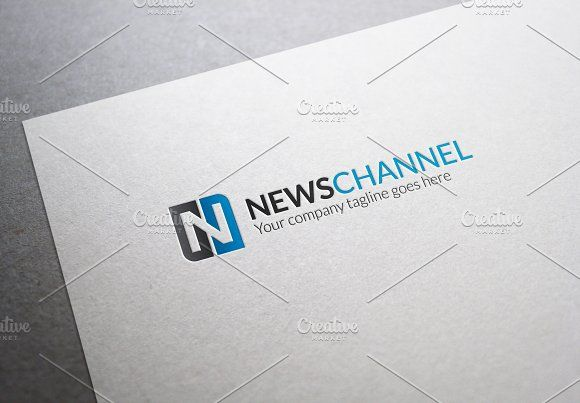 News Channel Letter N Logo by XpertgraphicD on @creativemarket