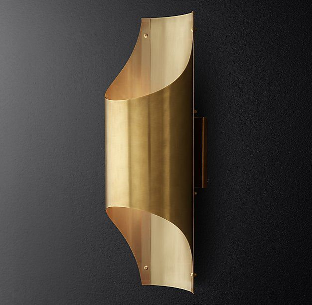 Cathedral Brass Sconce