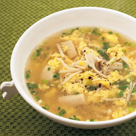 なめたけ卵スープ | 植松良枝さんのスープの料理レシピ | プロの簡単料理レシピはレタスクラブニュース