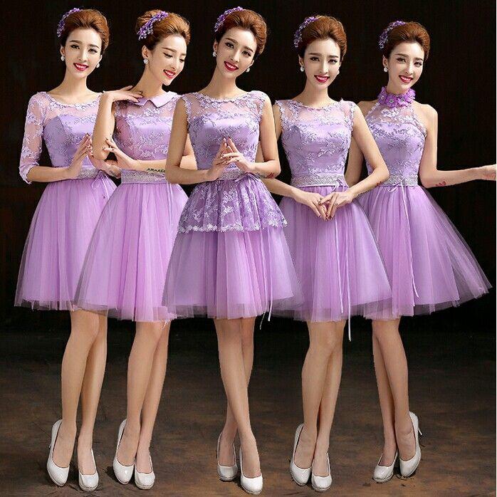 Vestido para damas de honor lila 2015 | Bridesmaid | Pinterest ...