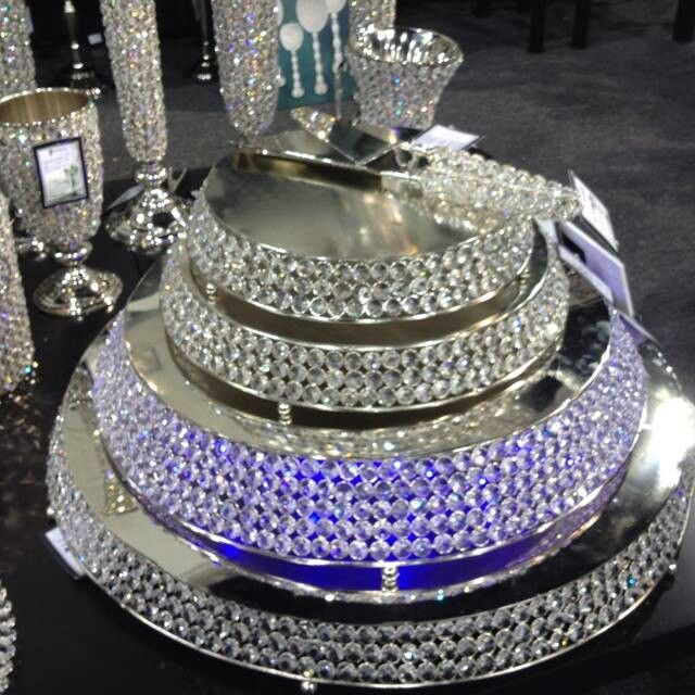 How To Make Diy Bling Cake Stand