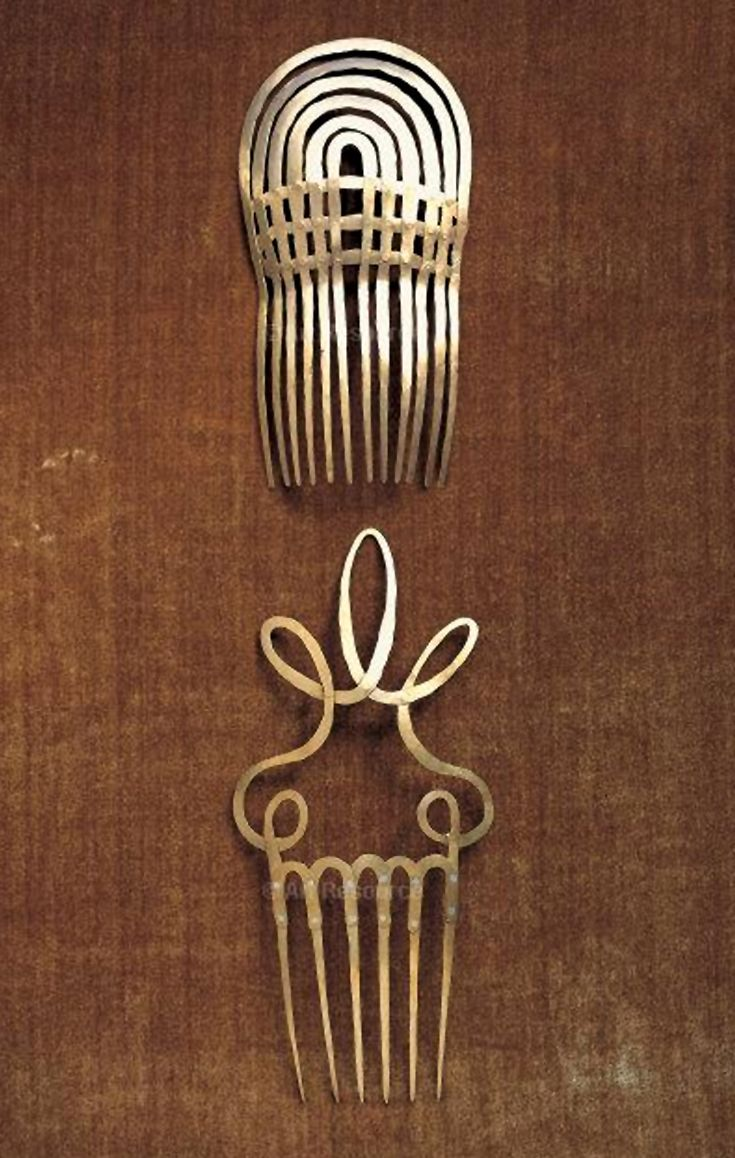 Hair combs | Alexander Calder. Brass wire. ca. 1940. #vintage
