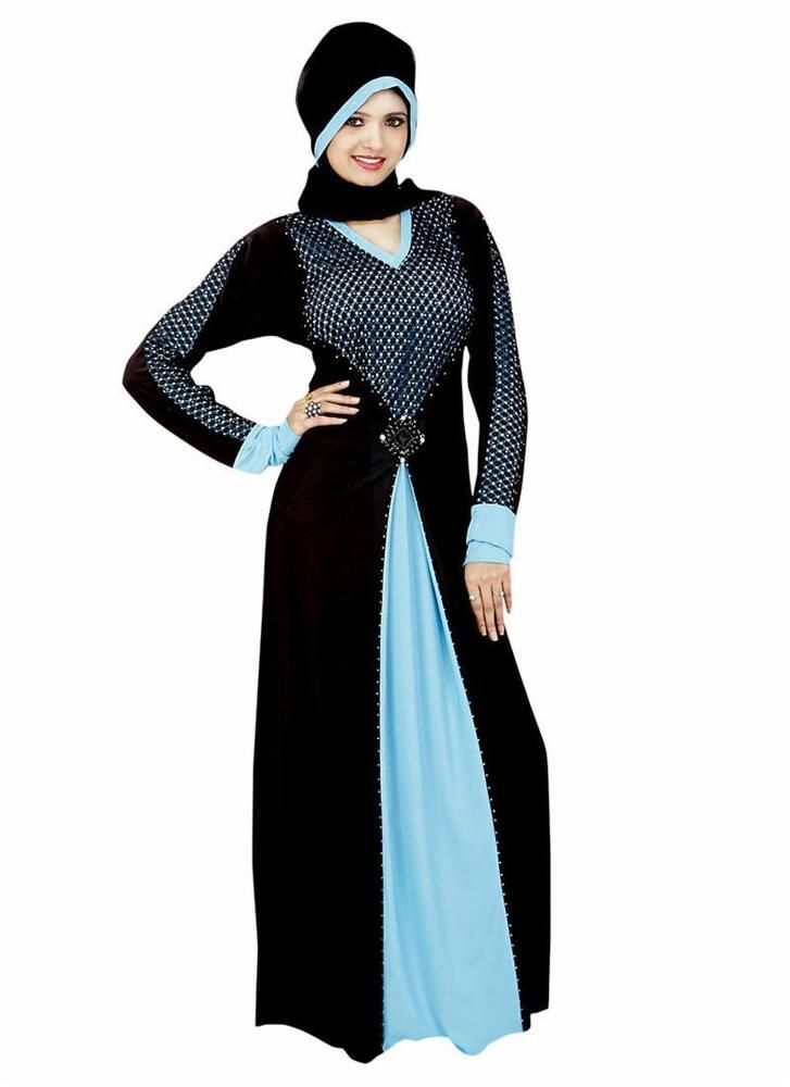 New Jilbab Style Hijab Maxi Abayaa Clothing Long Islamic Dress Bahiyyah Dubai…