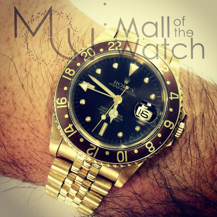16758 #rolex #gmtmaster #brown #yellowgold #vintagewatch #tigereye #luxurywatch
