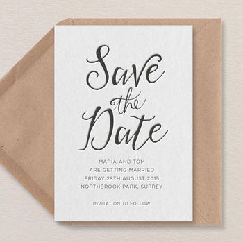 wedding invite - save the date