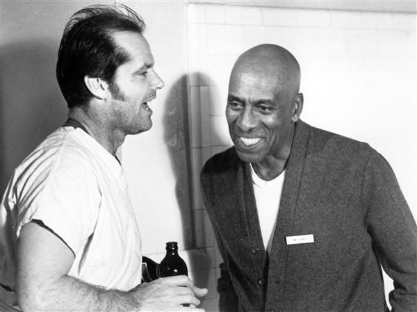"""Jack Nicholson and Scatman Crothers One Flew Over the Cuckoo""""s Nest (1975)"""