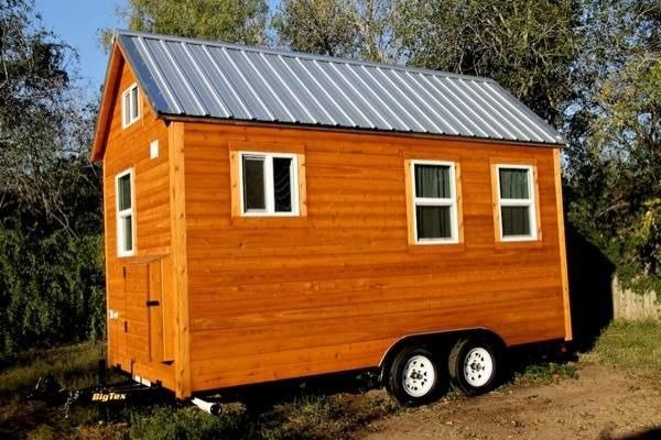 Tiny House For Sale: 144-square-foot with Loft Home on Wheels This is a link to text and photos on this house, in Tiny House Talk Newsletter.
