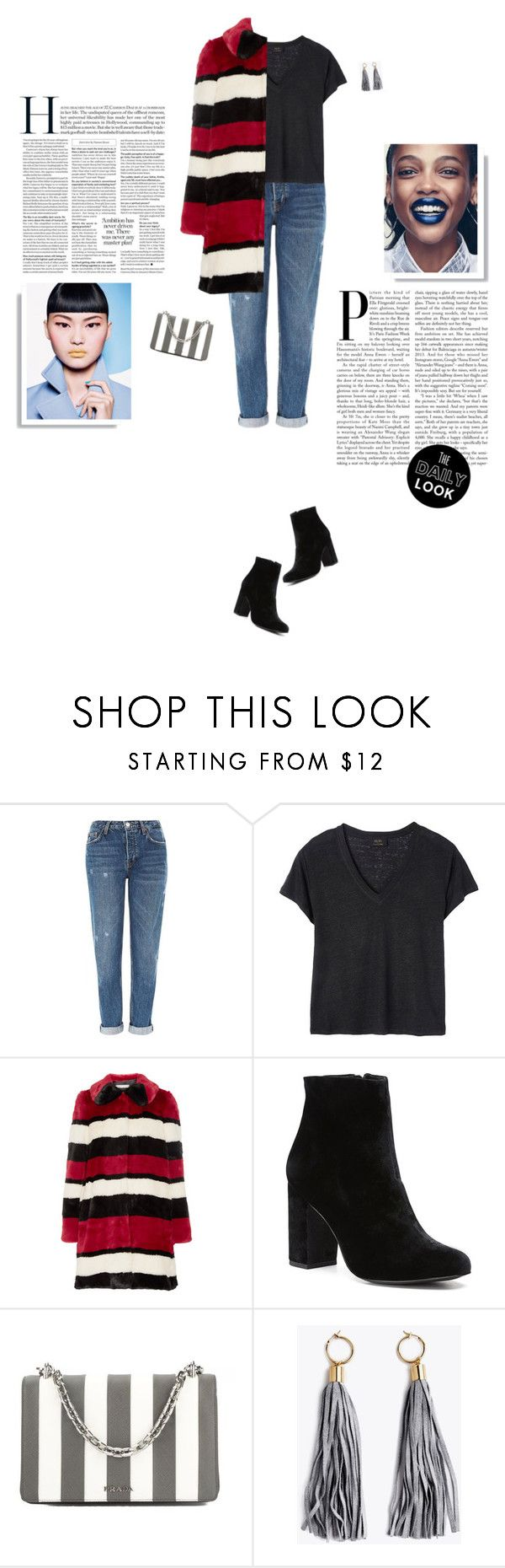 """""""Bold Stripes Trend"""" by elliejd ❤ liked on Polyvore featuring Topshop, Deby Debo, Alice + Olivia, Witchery, Prada and BoldStripes"""