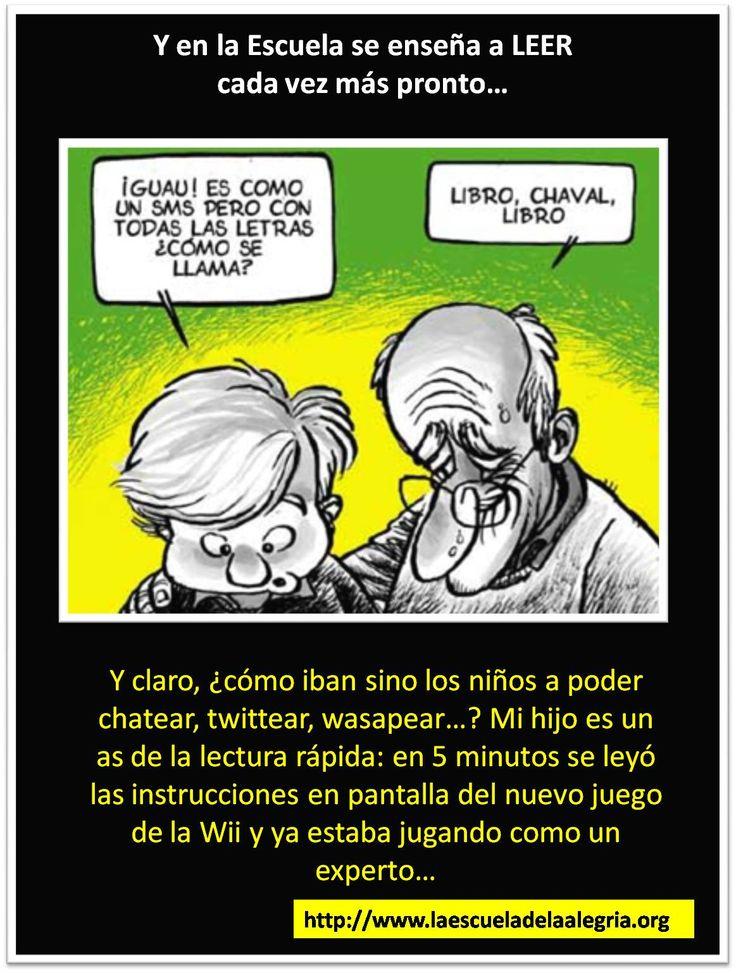 """EDUCANDO QUE ES GERUNDIO COLECCIÓN DE IMÁGENES """"POR UNA EDUCACIÓN MENOS CHISTOSA"""" TEMA: ENSEÑAR A LEER  ESCUELA DE LA ALEGRÍA. EDUCAMOS PARA LA VIDA, POR UNA NUEVA EDUCACIÓN.  http://www.escueladelaalegria.com/"""