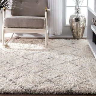 Shop for nuLOOM Soft and Plush Moroccan Trellis Natural Shag Rug (7'6 x 9'6). Get free shipping at Overstock.com - Your Online Home Decor Outlet Store! Get 5% in rewards with Club O! - 17605174