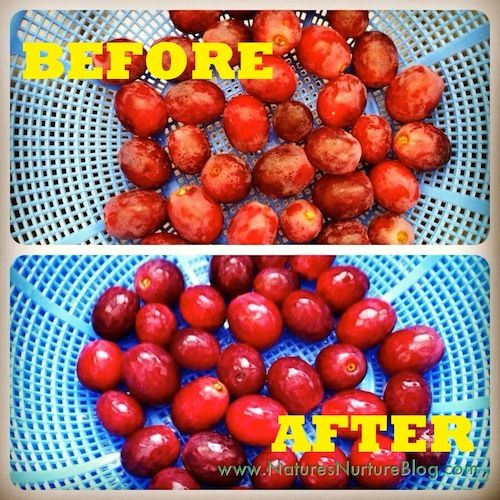 How to wash that white, waxy coating off of grapes with just some baking soda and salt!
