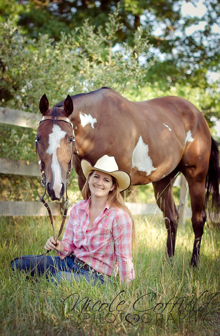 horse owner pose - western photography - equine photography