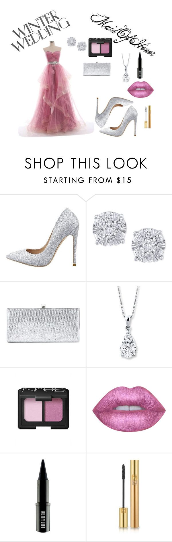 """""""Maid Of Honor Winter Wedding"""" by laurynmillard on Polyvore featuring Effy Jewelry, Jimmy Choo, NARS Cosmetics, Lime Crime, Lord & Berry and Yves Saint Laurent"""
