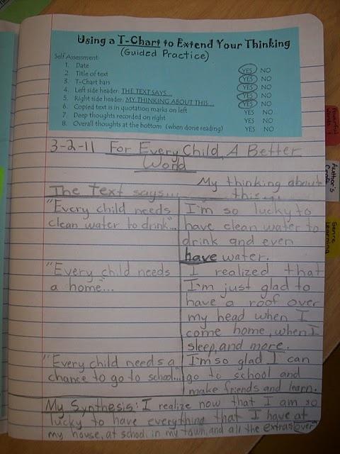 2 column notebook entry example
