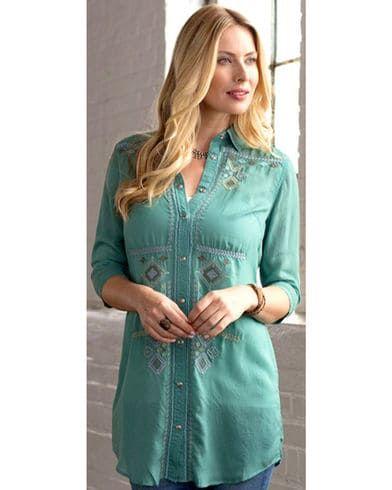 Ryan Michael Women's Embroidered Tunic | Sheplers