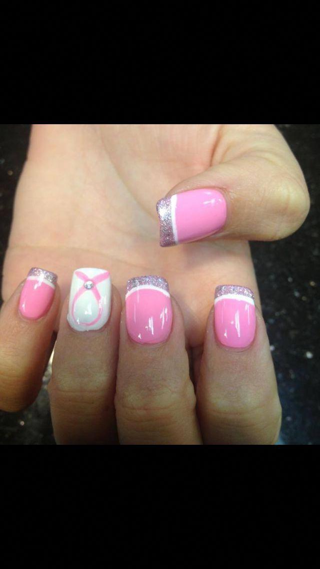 Brustkrebs Nägel #BrustkrebsWarenessideas   – nail designs