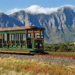 All aboard the Franschhoek Wine Tram