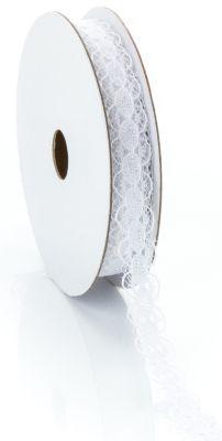 Spitzenband, weiß, 10 mm, 5 m € 3,50