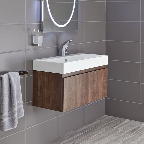 Mino 800 and drawer unit basin -walnut | bathstore Depth (mm)380mm £389.00   In stock  ALSO in white